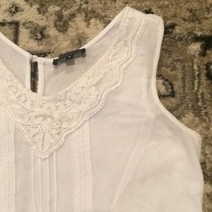 Papermoon white sleeveless blouse